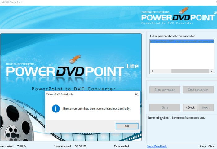 Powerdvdpoint litefree ppt to dvd converter