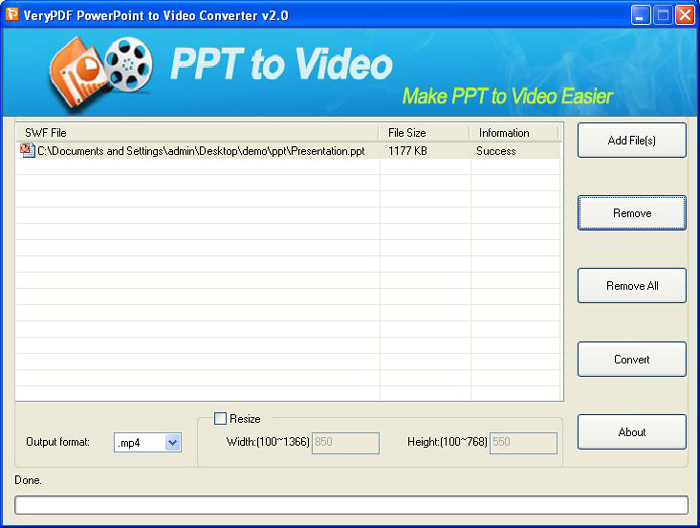 verypdf powerpoint to mp4 converter